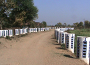Open-air toilet-free village