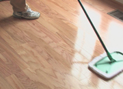 Caring of vinyl floors
