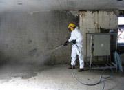 Surface cleaning before applying  industrial floor coating