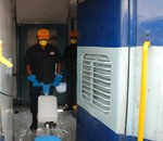 mechanised cleaning of coaches