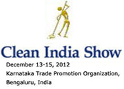 Clean India Show 2012 receive Government Support