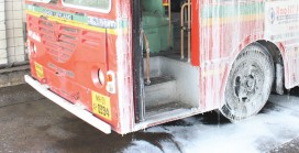 Clean India Week – Cleaning Buses & Depots
