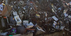 Illegal e-waste filling landfills