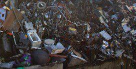 Illegal e-waste filling landfills