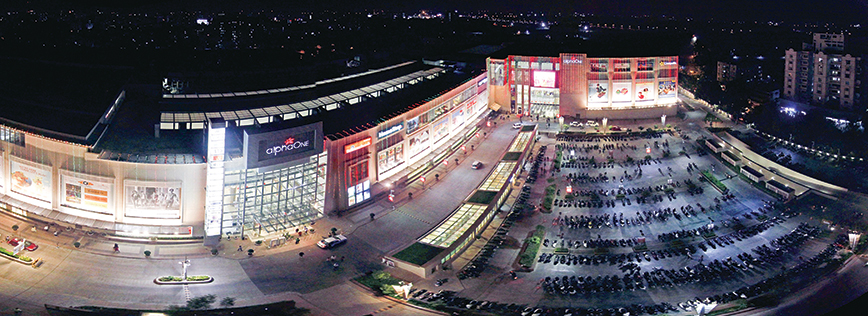 Night View of AlphaOne Ahmedabad