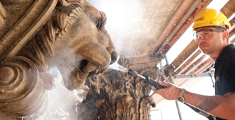 Cleaning and restoring historical buildings and monuments