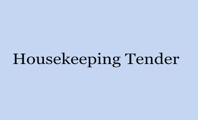 Housekeeping Tender