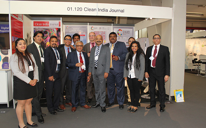 Clean India Journal Booth in ISSA Interclean 2016