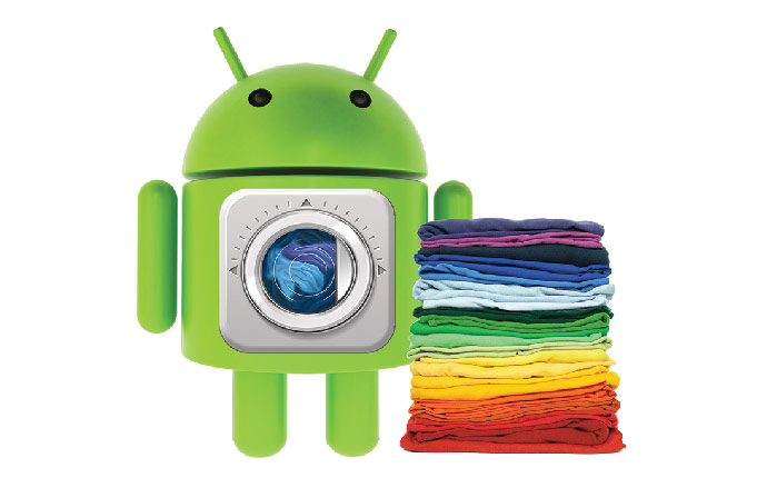 Washing through  Androids