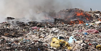 Garbage burning increasing pollution