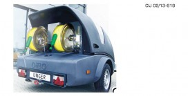 Trailer mounted window cleaning system
