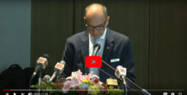 Timothy…, giving the welcome note at the Press Conference announcing the IHS at Shangri-La Hotel