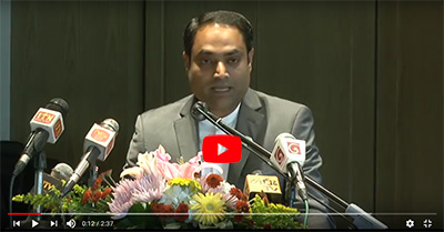 Hari Krishnan representing the Asian Housekeepers Association at Shangri-La Hotel, Colombo