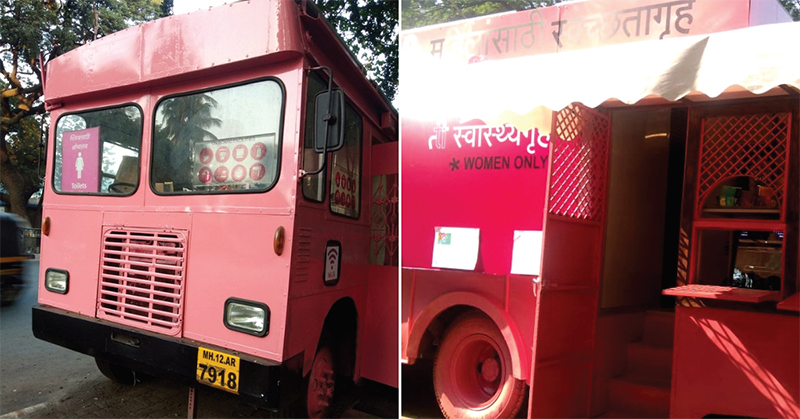 Turning old buses into clean toilets for women