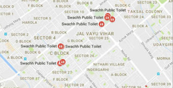 Google Maps shows over 45,000 toilets