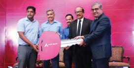 Axis Bank donates electric bikes for Bhopal SWM